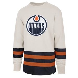 NWT Oilers Vintage Style 100% Cotton Long Sleeve T